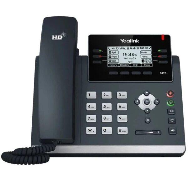 yealink-sip-t42s-gigabit-ip-phone-front