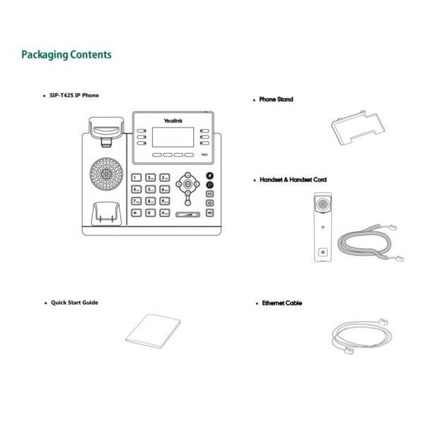 yealink-sip-t42s-gigabit-ip-phone-packaging-contents